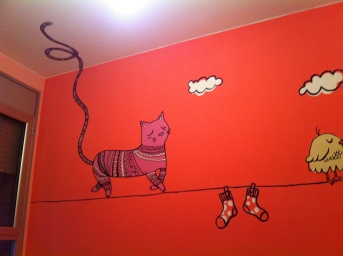 bedroom wall, child design